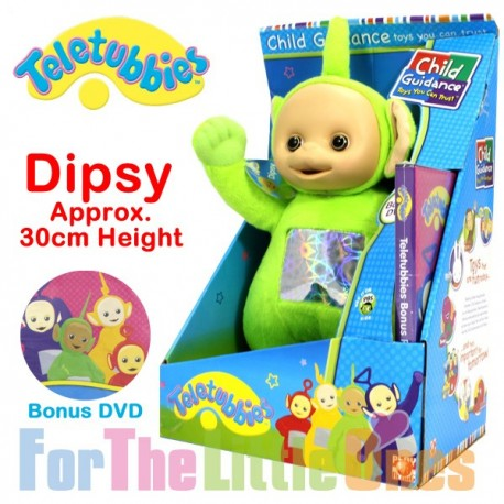 Teletubbies Dipsy Green 30cm Soft Toy with Bonus DVD