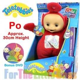 Teletubbies Po Red 30cm Soft Toy with Bonus DVD