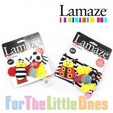 Lamaze 4 Piece Foot Finder & Wrist Baby Rattle Set