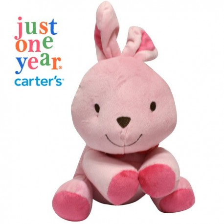 Carters Musical Pink Rabbit Soft Toy
